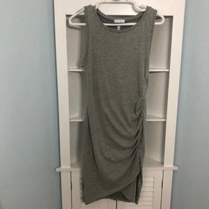 Leith bodycon accented cotton knee length dress, S
